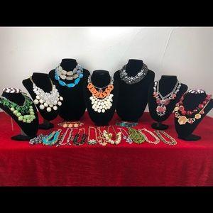 Statement Rhinestones Necklaces Lot